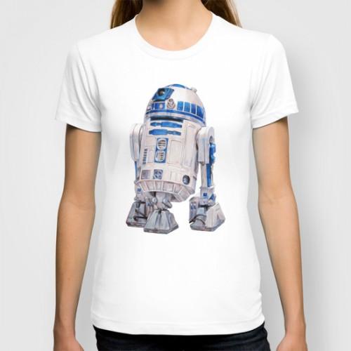 Купить Оригинальная дизайнерская футболка 'R2 D2 - Star Wars', Risha Myasov