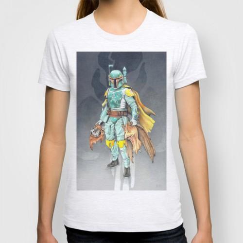 Купить Оригинальная дизайнерская футболка 'Star Wars Boba Fett and friends', Risha Myasov