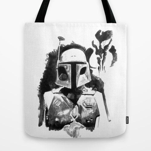 Купить Оригинальная сумка Star Wars 'Боба Фетт ч/б', Risha Myasov