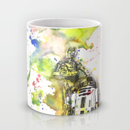 Купить Оригинальная чашка Star Wars 'C3PO and R2D2 from Star Wars', Risha Myasov