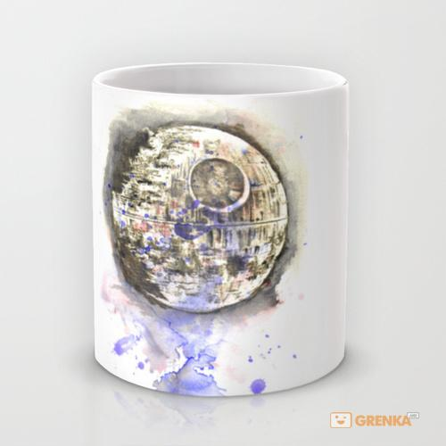 Купить Оригинальная чашка Star Wars 'Art Painting The Death Star', Risha Myasov