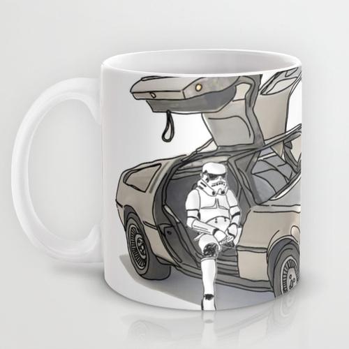 Купить Оригинальная чашка Star Wars 'Stormtroooper in a DeLorean - star', Risha Myasov