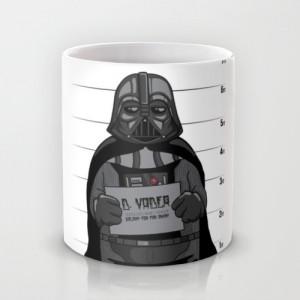 Подарок Оригинальная чашка Star Wars 'Darth Under Arrest'