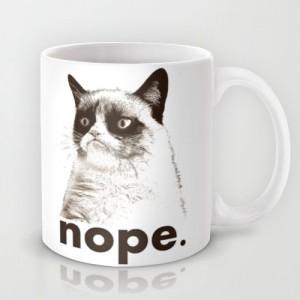 Подарок Оригинальная чашка 'Nope - Grumpy cat'