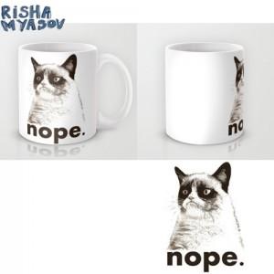 фото Оригинальная чашка 'Nope - Grumpy cat' #3