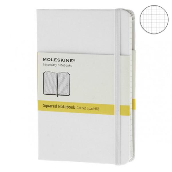 Купить Блокнот Moleskine Classic маленький 'белый' в клетку