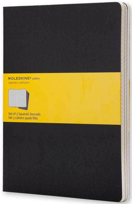 Купить Блокнот Moleskine черный (в клетку, 3 шт.)