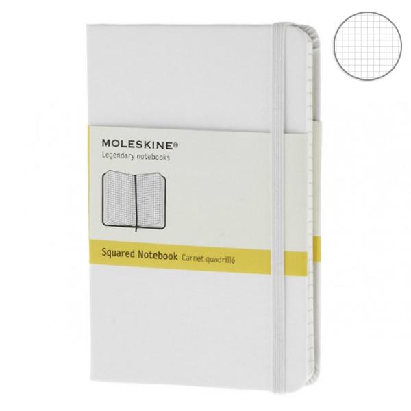 Купить Блокнот Moleskine Classic средний 'белый' в клетку
