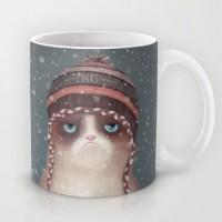 Подарок Оригинальная чашка 'Christmas Grumpy cat'