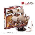 Трехмерная головоломка-конструктор CubicFun  'Корабль 'Мейфлауер'