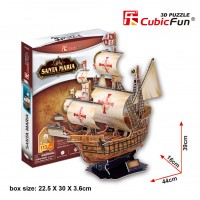 Трехмерная головоломка-конструктор CubicFun  'Корабль 'Санта Мария'