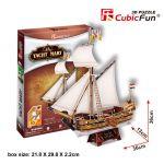Трехмерная головоломка-конструктор CubicFun 'Яхта Мери'