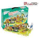Трехмерная головоломка-конструктор CubicFun  'Поездка в парк развлечений'