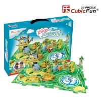 Трехмерная головоломка-конструктор CubicFun  'Поездка в зоопарк'
