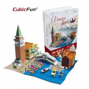 Трехмерная головоломка-конструктор CubicFun 'Италия. Венеция' (в жестяной коробке)
