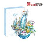 Трехмерная головоломка-конструктор CubicFun  'Городской пейзаж. Дубаи'