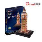 Трехмерная головоломка-конструктор CubicFun  'Биг-Бен LED'
