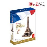 Трехмерная головоломка-конструктор CubicFun 'Эйфелева башня'