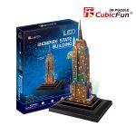 Трехмерная головоломка-конструктор CubicFun 'Эмпайр Стейт Билдинг LED'