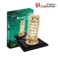 Трехмерная головоломка-конструктор CubicFun 'Пизанская башня LED'