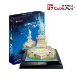 Трехмерная головоломка-конструктор CubicFun  'Статуя Свободы LED'