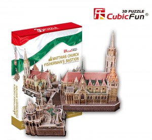 Трехмерная головоломка-конструктор CubicFun 'Церковь Святого Матиаша'