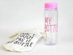 Подарок Бутылка для воды 'My Bottle' розовая