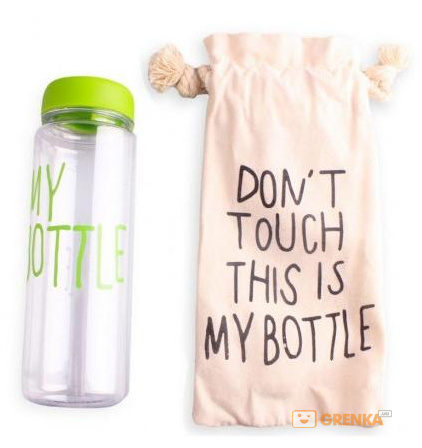 Купить Бутылка для воды 'My Bottle' салатовая