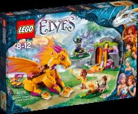 Конструктор LEGO Elves Лавовая пещера дракона огня