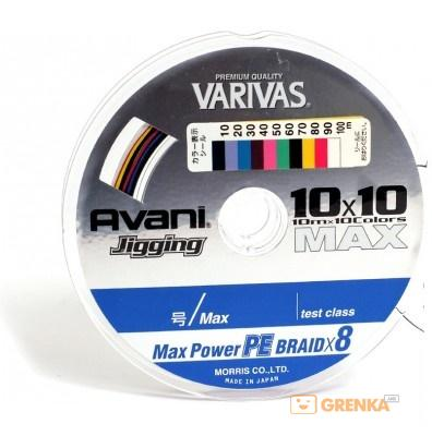 Купить Шнур Avani Jigging 10x10 85 Lb (100 м), Varivas