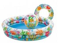 Бассейн детский надувной с мячом и кругом