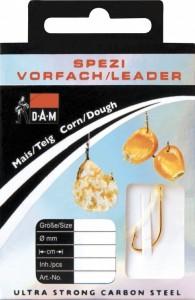 Крючки с поводком DAM Spezi Corn/Dough (кукуруза/тесто) №10, 10шт