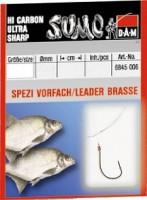 Крючок с поводком DAM Sumo Spezi Bream (лещ) №6, 10 шт. (nickel)