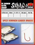 Крючок с поводком DAM Sumo Spezi Bream (лещ) №6, 10 шт. (red)
