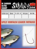 Крючок с поводком DAM Sumo Spezi Rotauge (плотва) №10, 10 шт. (nickel)