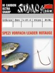 Крючок с поводком DAM Sumo Spezi Rotauge (плотва) №12, 10 шт. (nickel)
