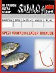 Крючок с поводком DAM Sumo Spezi Rotauge (плотва) №12, 10 шт. (red)