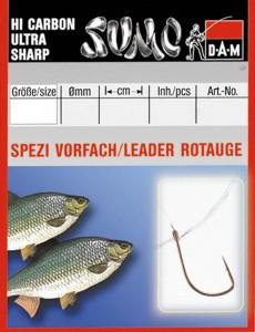 Крючок с поводком DAM Sumo Spezi Rotauge (плотва) №14, 10 шт. (nickel)