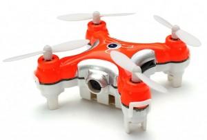 Квадрокоптер на радиоуправлении нано CX-10C с камерой (оранжевый)