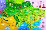 Карта Україна з пазлами 'Зірка'