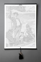 Подарок Книга-картина 'Jerome K. Jerome. Three Men in a Boat'