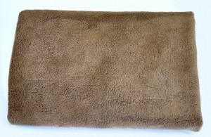 фото Полотенце 45 x 95 см Микрофибра 400 г/м2 коричневое #3