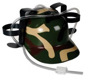 Подарок Каска 'Боевая' с крепежами для воды