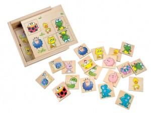Настольная деревянная игра Bino 'Найди пару. Животные'