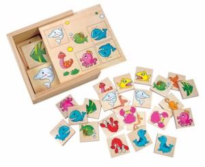 Развивающая деревянная игра Bino 'Подводный мир'