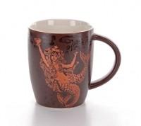 Подарок Шоколадная керамическая чашка с золотым принтом Starbucks
