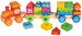 Деревянный поезд с кубиками Bino