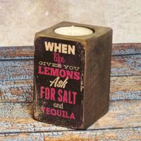 Подарок Подсвечник Когда жизнь преподносит лимон...