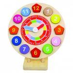 Деревянные часы на подставке Bino