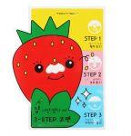 Подарок Набор пластырей против черных точек Tony Moly Homeless Strawberry Seeds 3-Step Nose Pack